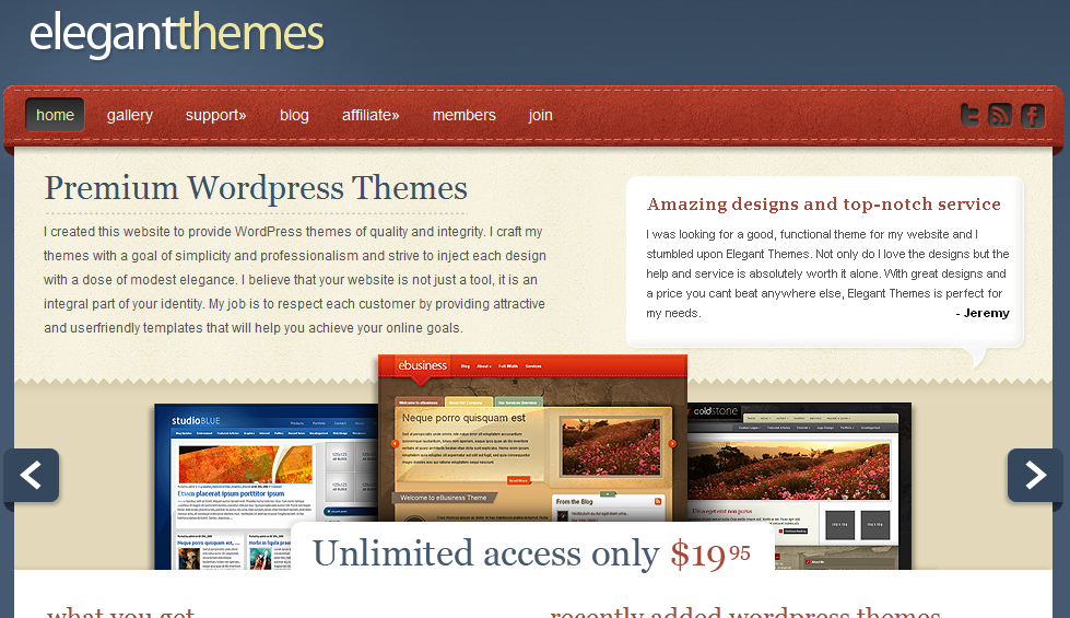 Fantastic WordPress website template themes