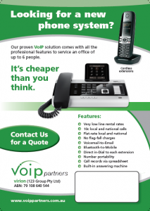 Small Business Phone system using VoIP