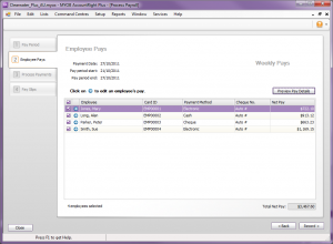 MYOB online training courses and support - Weekly Pay Slip screen shot