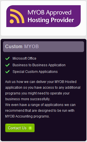 ozBeanz MYOB Approved Hosting Provider for MYOB in the cloud