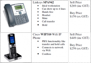 Cisco IP Telephones for VoIP systems case study for MYOB training course