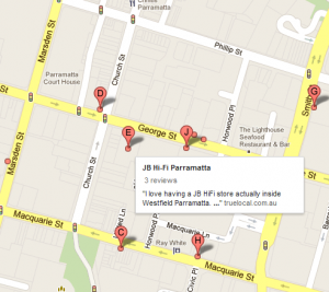 Google Maps and Computer Shops Parramatta MYOB training courses