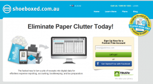 Receipts in a shoebox? Shoeboxed Australian website
