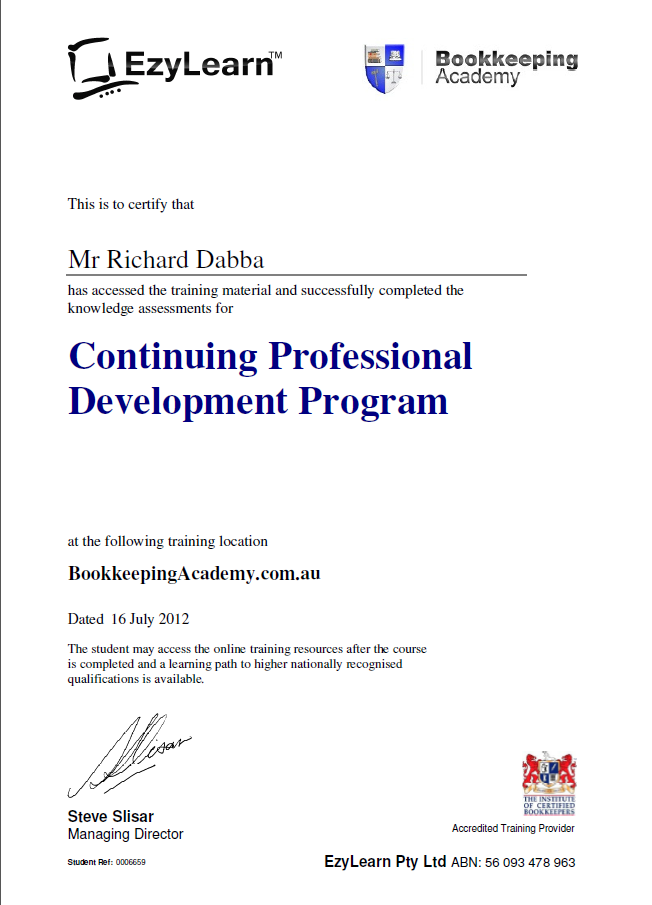 myob course certificates to be issued on friday - ezylearn blog