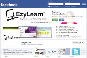EzyLearn facebook page for MYOB courses