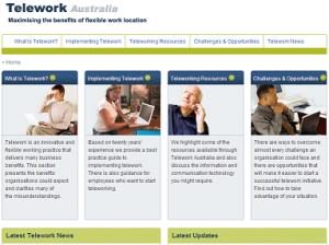 Telework Australia Website - work from home and MYOB courses