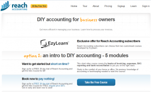 Reach Accounting free course from EzyLearn