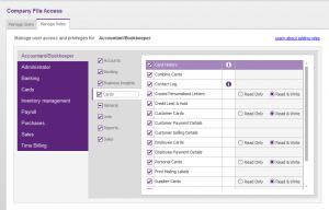 MYOB AccountRight Live Basics - Modifying User Access 2 - Role Based User Access
