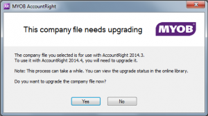 MYOB AccountRight Live Basics - is it really cloud-based accounting software or MYOB and Dropbox 6 - company file needs upgrading