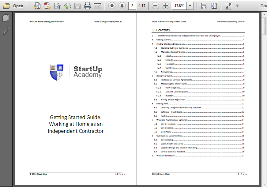 Receive the free guide on starting a business from home as a remote contractor