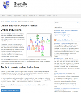 Startup Academy Create Online Induction Training Courses