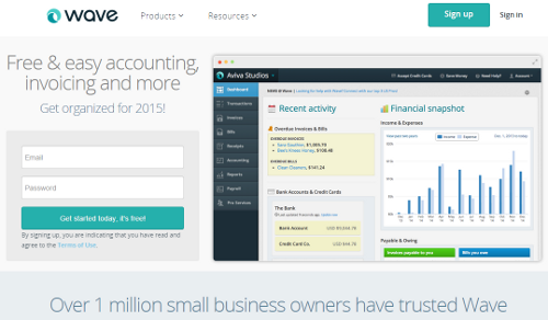 Wave accounting has 1 million users and is free_free