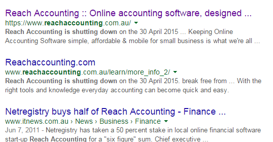 Google Reveals Reach Accounting is shutting down