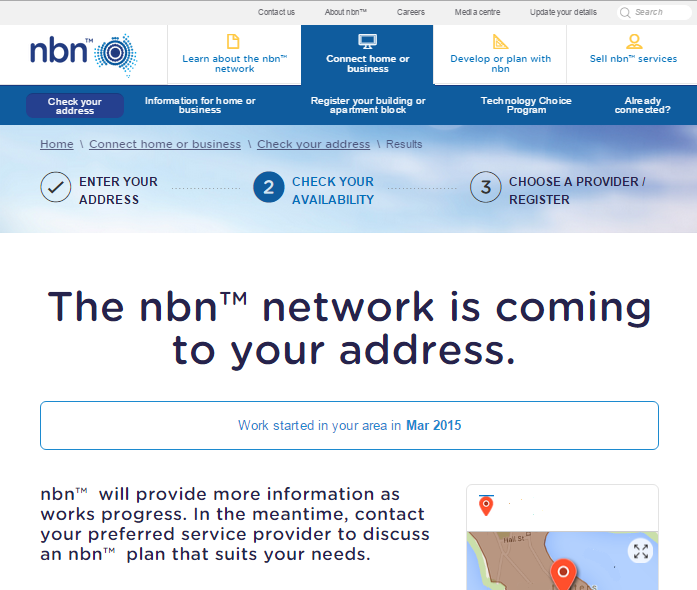 Is the NBN available in your suburb - national broadband network