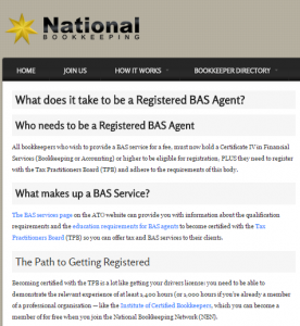 What does it take to be a registered BAS agent