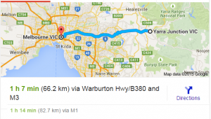 Yarra Junction to Melbourne city for online MYOB, Excel, Xero training courses