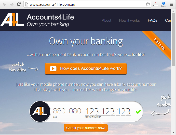 Accounts4life gives you a virtual bank account number that stays with your for life