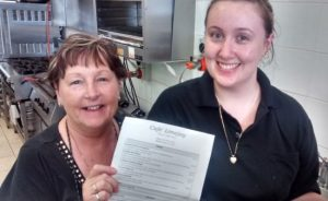 New Morisset Cafe owners at Cafe Limejay use Microsoft Excel to create their new menu-small
