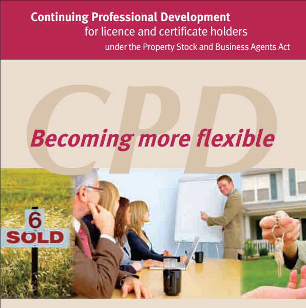 CPD Continuing Professional Development and Education applied to bookkeepers and real estate agents