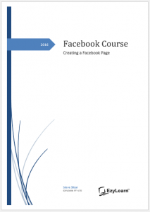 Facebook Course  - 1 Creating a Facebook Page COVER Page