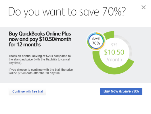 Intuit Quickbooks Setup Training Course - 5 Sign up for the free trial or get a 70% discount and pay now