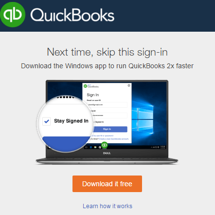 Intuit Quickbooks offers a free Windows app twice as fast - did MYOB make the right choice