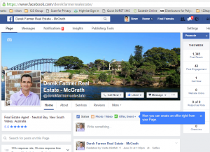 Real Estate Agent Facebook Page, timeline posts and ads help property and brand marketing