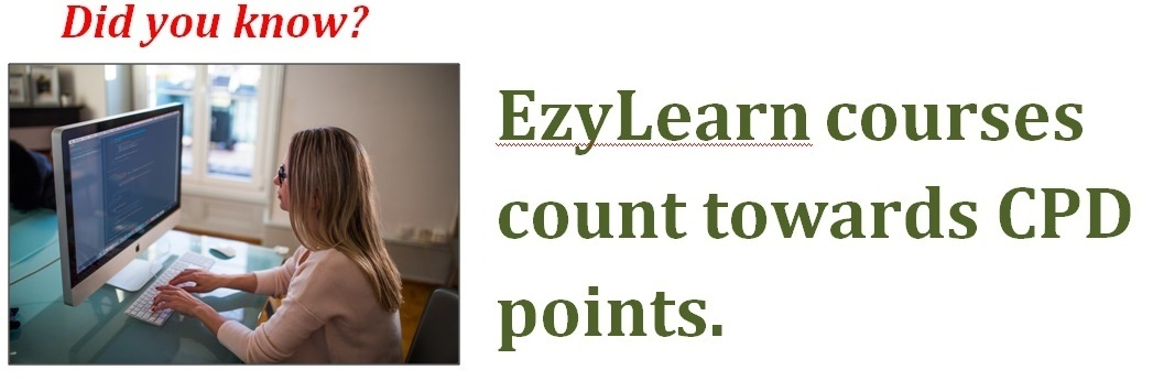 EzyLearn online training courses count towards CPD points