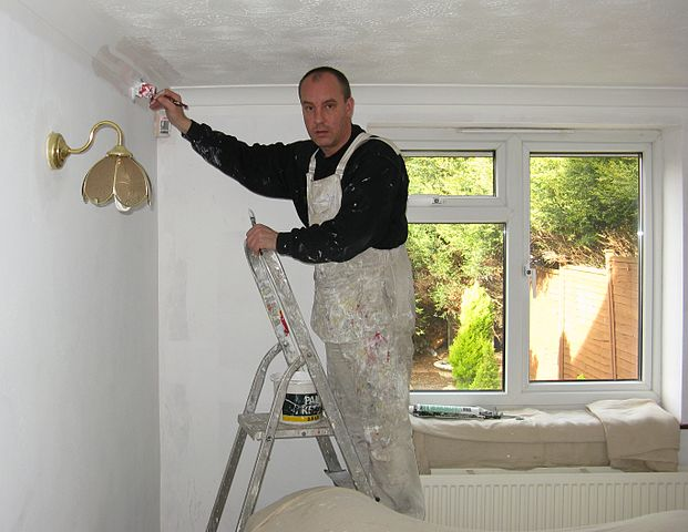 Painting a house renovation of investment property in Newcastle