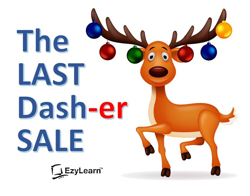 EzyLearn Last Dasher Sale November 2017 for cheap Xero, Cheap MYOB and Cheap Excel courses