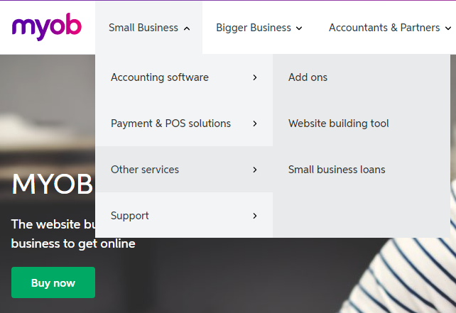 MYOB or WordPress for your new business website?