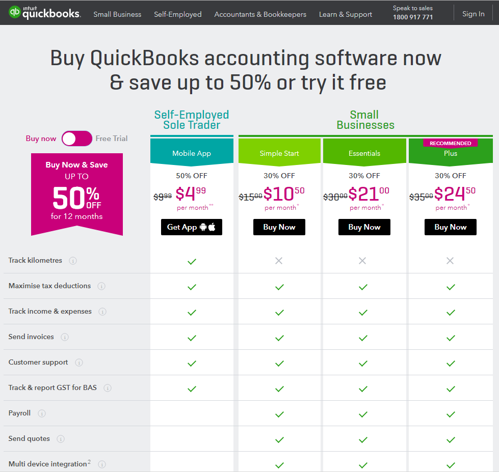 QuickBooks Online Pricing as of February 2018 - online training courses