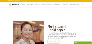 Natbooks homepage of website Find a Good Local or Remote Bookkeeper