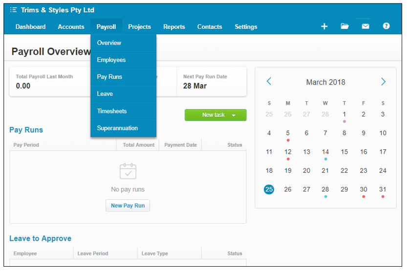Beginners Xero Payroll Administration Training Course to Advanced Xero Payroll online course dashboard