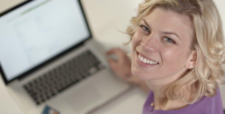 woman learning xero myob excel online training course videos