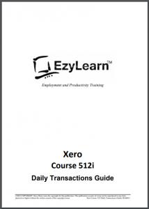 FREE Xero Accounting Training Course Workbook