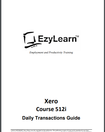 FREE Xero Accounting & PayPal Training Workbook