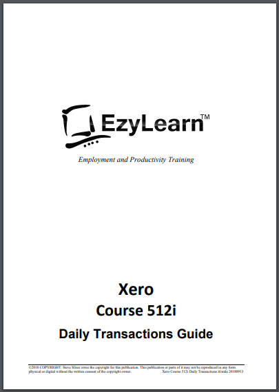 FREE Xero Accounting Training Course Workbook