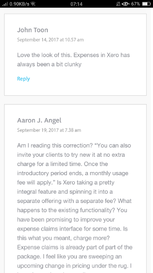 Negative comments about the old Xero Expenses and charging for newer features- Xero Accounting Training Courses