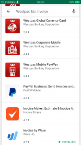 Westpac Biz Invoicing alternatives PayPal, Waveapps, online training for Xero, MYOB, QuickBooks and Excel