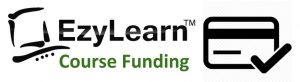 EzyLearn Online Training Courses logo 2 funding less than $25 per week for Xero, MYOB, Excel & more