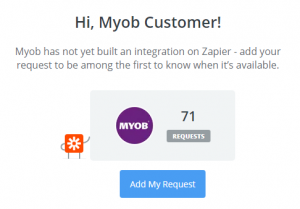 Zapier doesn't offer an MYOB AccountRight to MailChimp Integration yet - online training courses