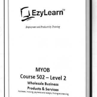 MYOB AccountRight Training Manual Workbooks for trades and services businesses 2