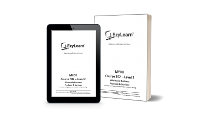 Downloadable MYOB Training Course manual & workbook exercises