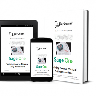 Sage One Accounting Training Course Manual and Workbook - Daily Transactions, data entry, AR & AP