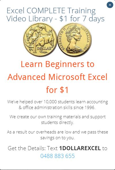 Learn how to use Microsoft Excel Beginners, Intermediate, Advanced Training Courses video library for $1