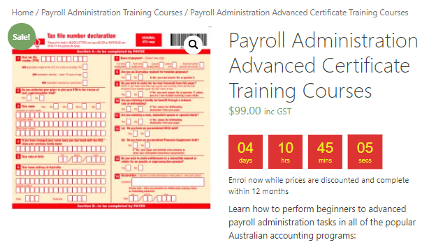 Payroll Administration Courses in Xero, MYOB & QuickBooks for $99 - EzyLearn - Start Now, Learn Fast