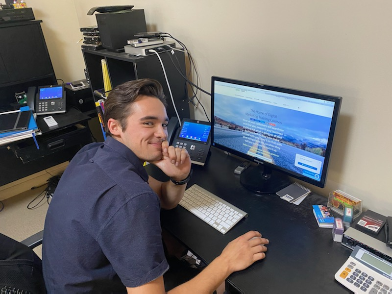 Electrical and air conditioning apprentice performs digital and social media marketing for central coast local firm using Instagram, Facebook and Google training courses