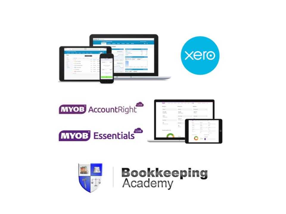 Learn Xero Accounting, MYOB AccountRight, MYOB Essentials online training course package - Bookkeeping Academy $20 per week