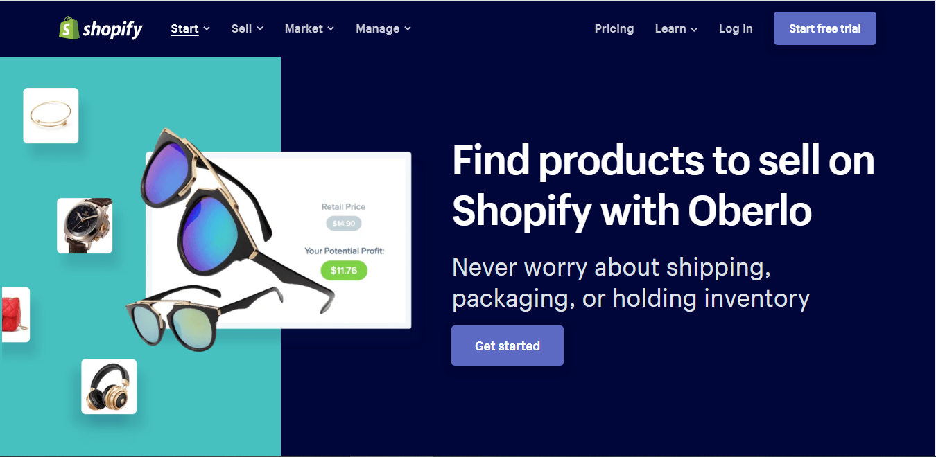 Start or buy an online drop shipping business using Shopify and Oberlo - online training courses to work remotely from home - EzyLearn